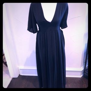 Black palazzo jumpsuit in size large